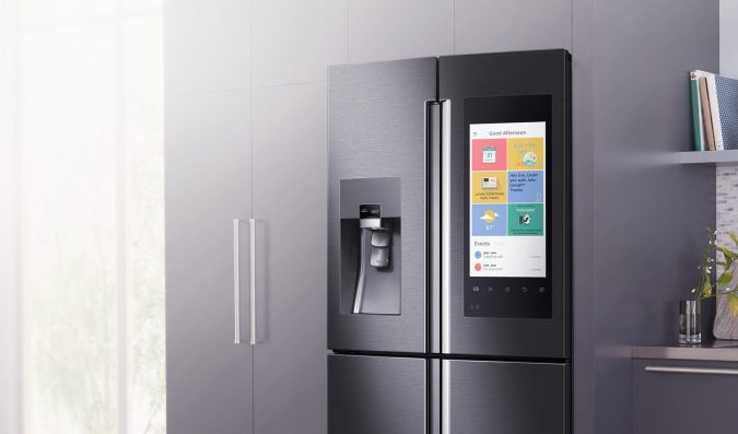 Samsung-Smart-Fridge-Kitchen-675x397 Top 10 Stylish and Practical Kitchen Design Trends for 2019