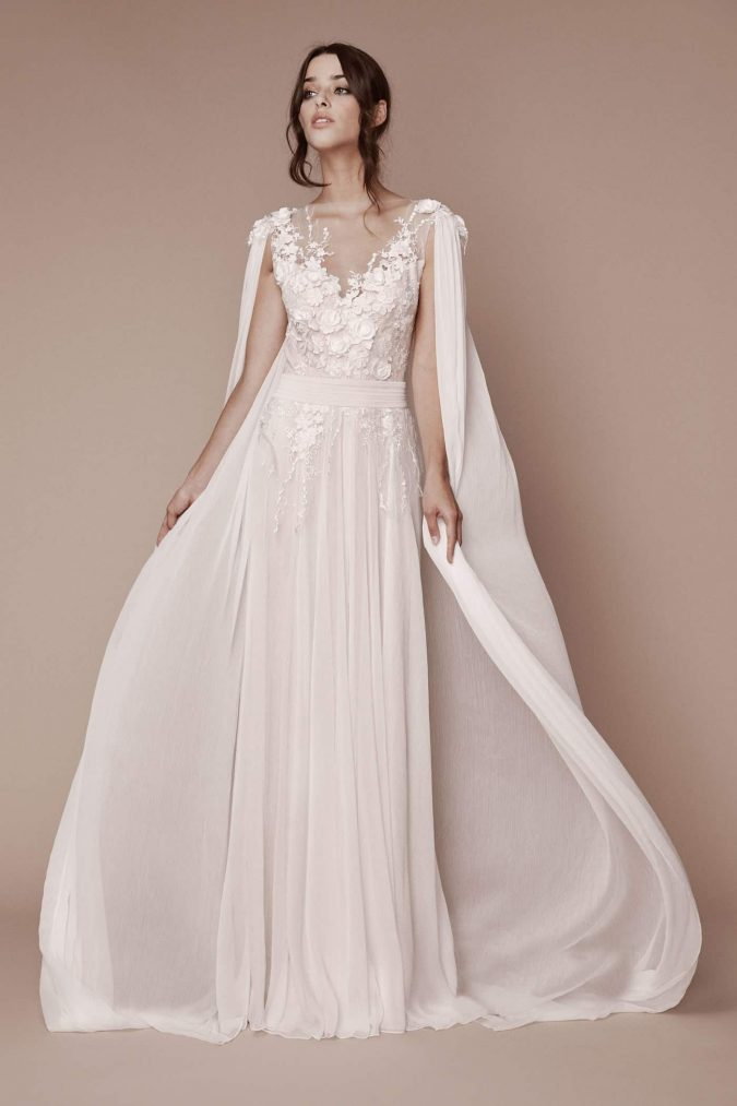 Tadashi-Shoji-bridal-fall-2019-credit-Angelo-Sgambati-675x1013 150+ Bridal Fashion Trends and Ideas for Fall/winter 2020