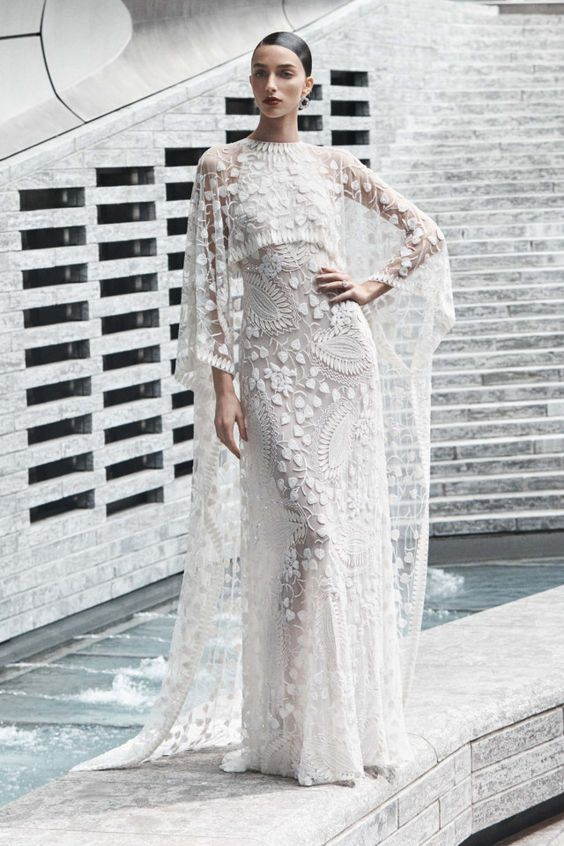 cape-2019. 150+ Bridal Fashion Trends and Ideas for Fall/winter 2019