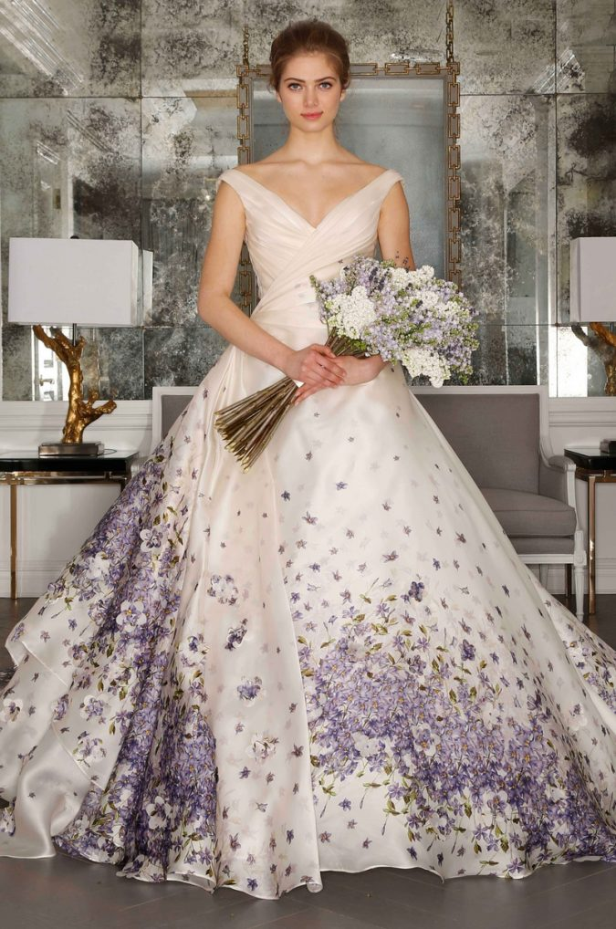 floral-675x1018 150+ Bridal Fashion Trends and Ideas for Fall/winter 2019