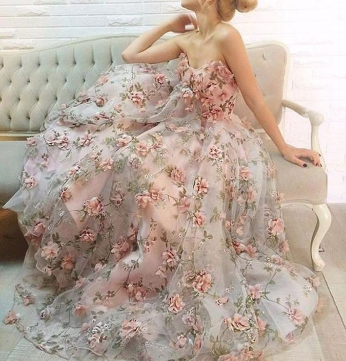 floral-gowns-1-675x706 150+ Bridal Fashion Trends and Ideas for Fall/winter 2019