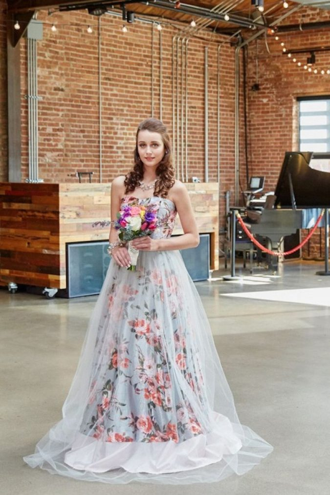 floral-print-wedding-gowns-675x1013 150+ Bridal Fashion Trends and Ideas for Fall/winter 2019