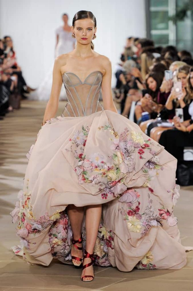 floral-wedding-dresses-675x1013 150+ Bridal Fashion Trends and Ideas for Fall/winter 2019