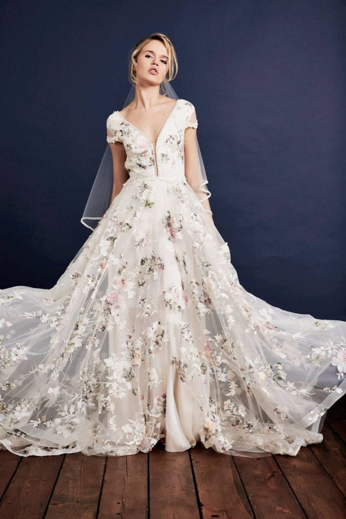 floral.-1-675x1013 150+ Bridal Fashion Trends and Ideas for Fall/winter 2019