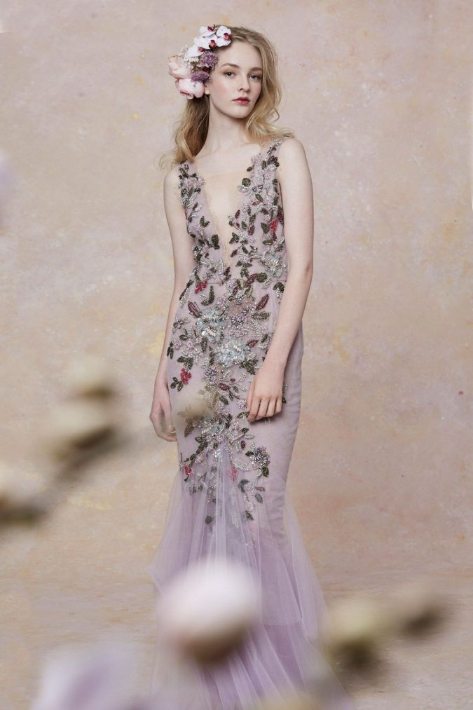 floral..-675x1013 150+ Bridal Fashion Trends and Ideas for Fall/winter 2019