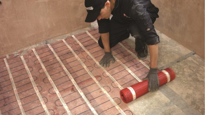 home-Installing-underfloor-heating-3-675x379 Underfloor Heating and Wood Flooring: What You Need to Know Before Installation