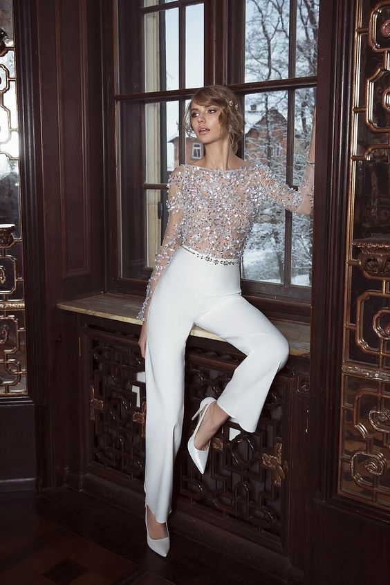 jumpsuit 150+ Bridal Fashion Trends and Ideas for Fall/winter 2020