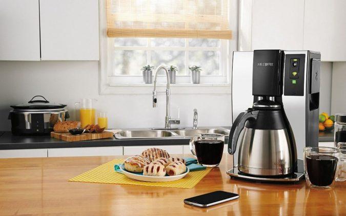 kitchen-smart-coffee-maker-belkin-wemo-mr-coffee-kitchen-675x422 Top 10 Stylish and Practical Kitchen Design Trends for 2019