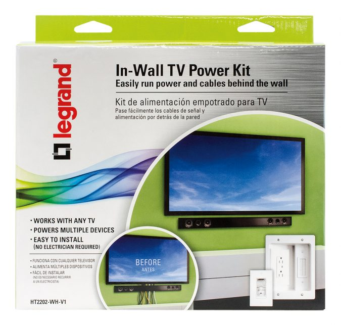 legrand-kit-675x643 Legrand In-wall TV Power Kit: How to Hide the TV Wires Elegantly