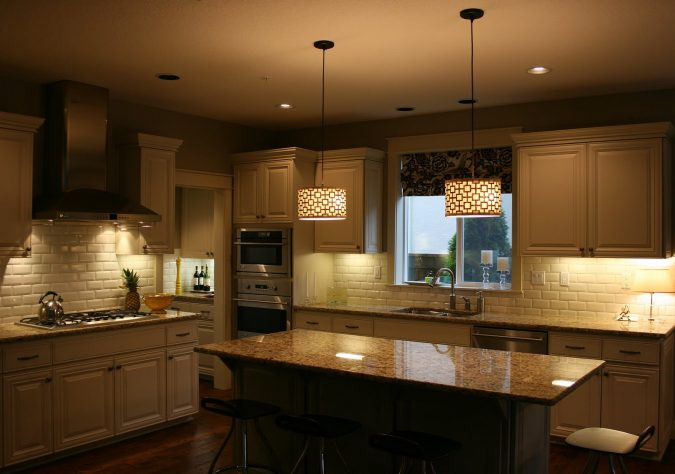 over-island-kitchen-pendant-lighting-675x474 Top 10 Stylish and Practical Kitchen Design Trends for 2020