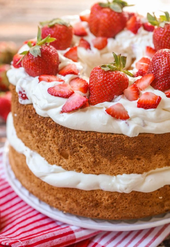 strawberries-and-cream-angel-food-cake-1-675x980 Top 5 Healthy Cakes for Fruitful Celebrations