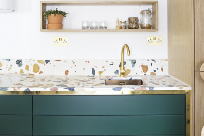 terrazzo-kitchen-countertop-675x450 Top 10 Stylish and Practical Kitchen Design Trends for 2019