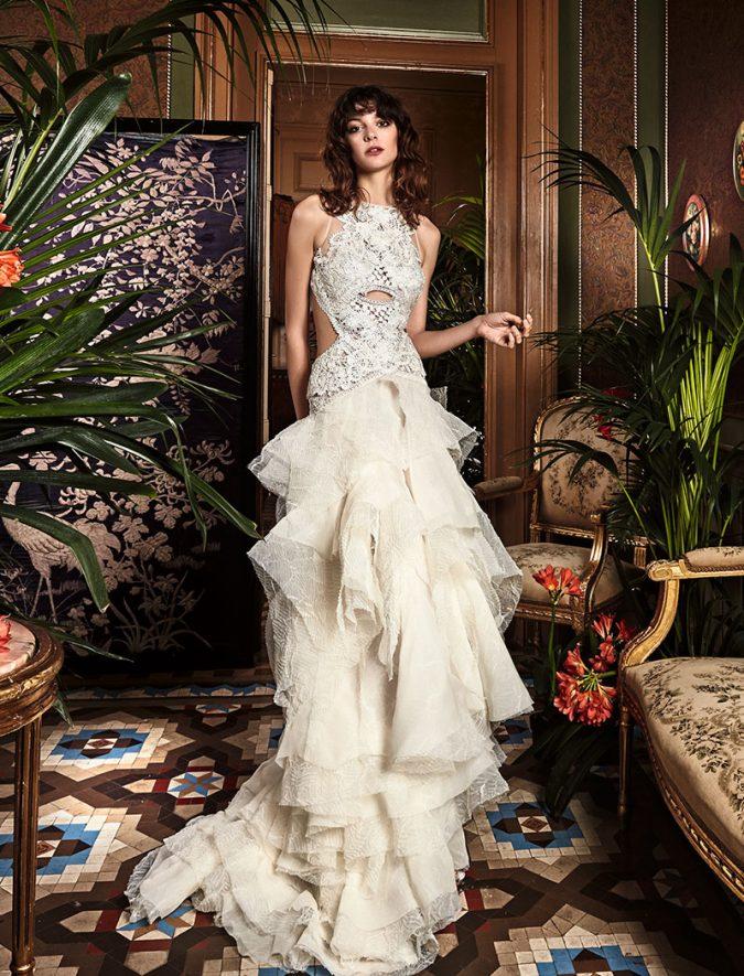 wedding-dresses-boho_chic_wedding_dresses_2017_bohemian_lace_wedding_dress_yolan_cris_chris_style_centella-3-675x885 150+ Bridal Fashion Trends and Ideas for Fall/winter 2019