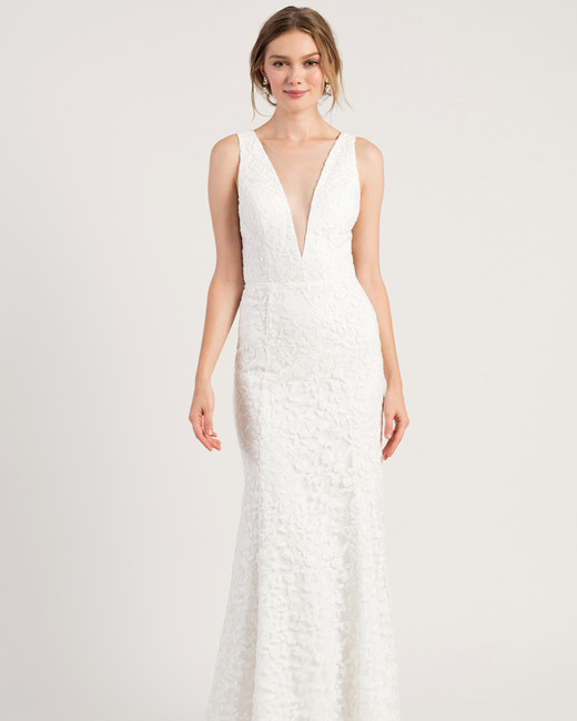 wedding-dresses-fall-2019-a-line-plunging-neckline-sexy-blush-berta-250x500 150+ Bridal Fashion Trends and Ideas for Fall/winter 2020