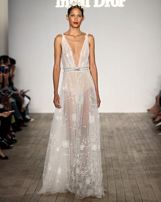 wedding-dresses-fall-2019-sexy-deep-v-neckline 150+ Bridal Fashion Trends and Ideas for Fall/winter 2019
