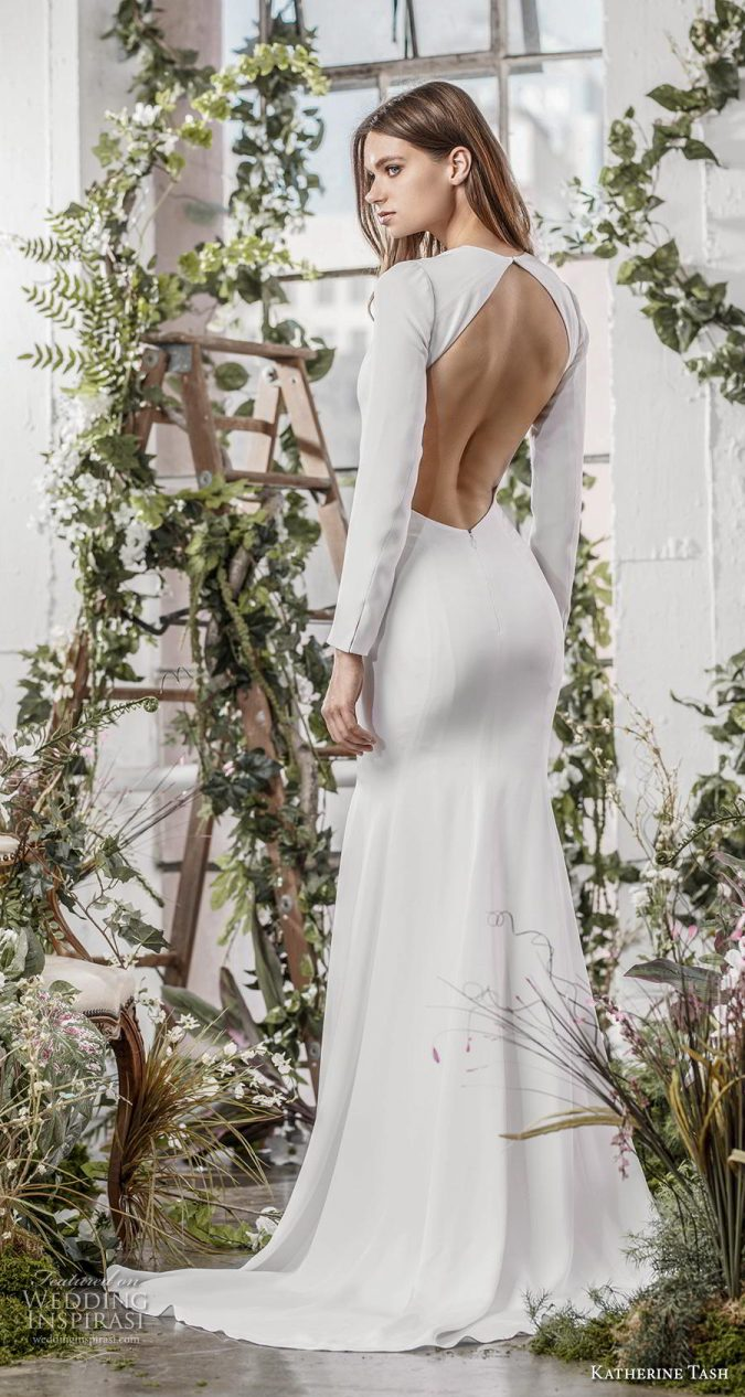 wedding-dresses-fall-2019-simple-similar-meghan-markle-675x1266 150+ Bridal Fashion Trends and Ideas for Fall/winter 2019