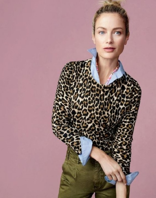 Animal-print-top-and-colorful-bottom-winter-outfit 70+ Elegant Winter Outfit Ideas for Business Women in 2019