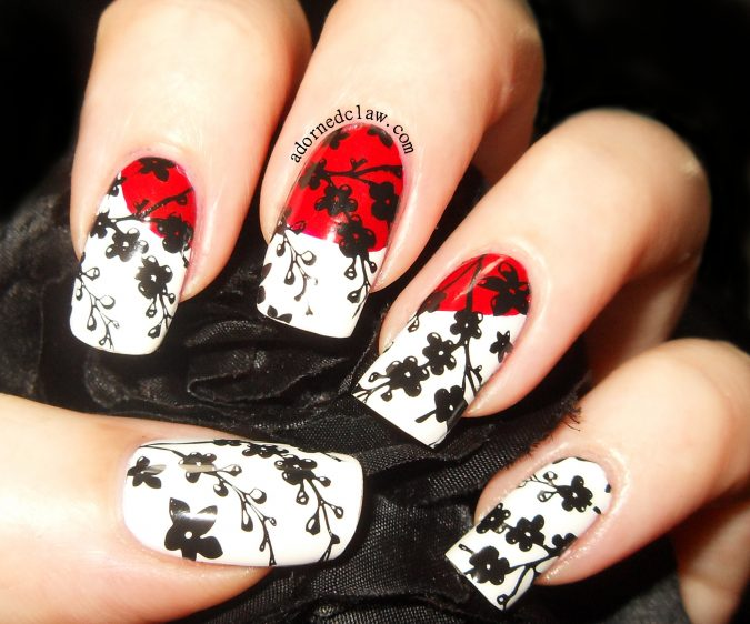 Asian-japanese-nail-art-2014-675x562 +60 Hottest Nail Design Ideas for Your Graduation