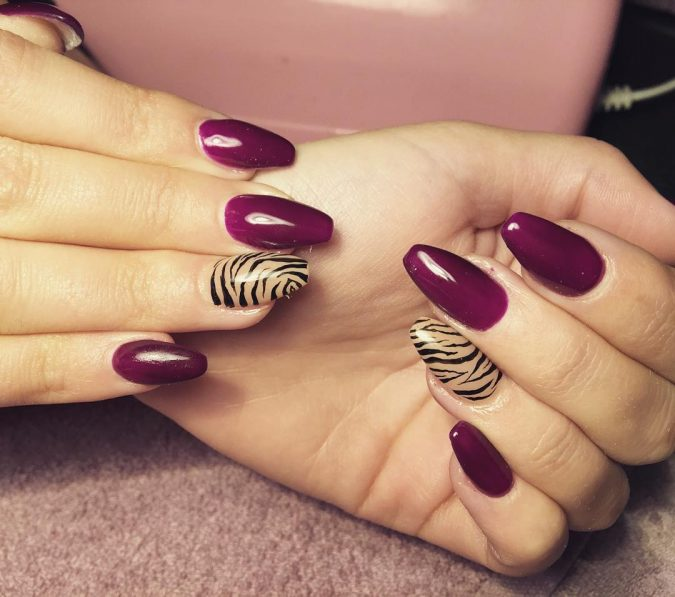 Candy-Zebra-Nail-Design-675x597 60+ Most Fabulous Winter Nail Design Ideas This Year