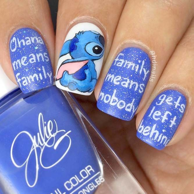 Disney-nail-design-2 60+ Most Fabulous Winter Nail Design Ideas This Year