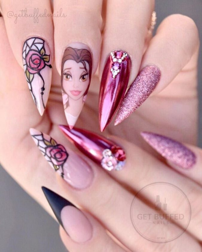 Disney-nail-design-4-675x844 60+ Most Fabulous Winter Nail Design Ideas This Year