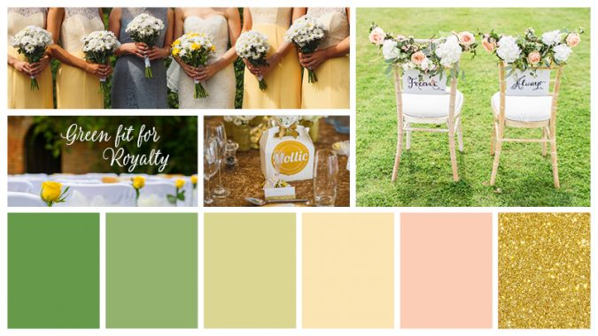 Green-fit-for-Royalty-1-675x380 Trend Forecasting: Top 15 Expected Wedding Color Ideas for 2019