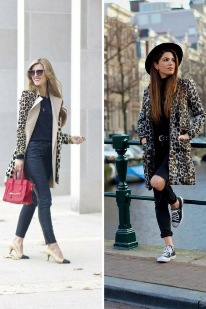 Leopard-Print-Coats-women-outfits-675x1013 70+ Elegant Winter Outfit Ideas for Business Women