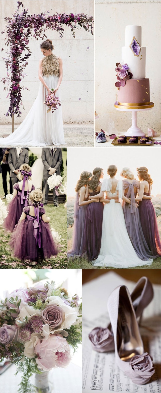 Modern-Mauve-Plum-and-Lilac-Wedding-Color-Combo Trend Forecasting: Top 15 Expected Wedding Color Ideas for 2019