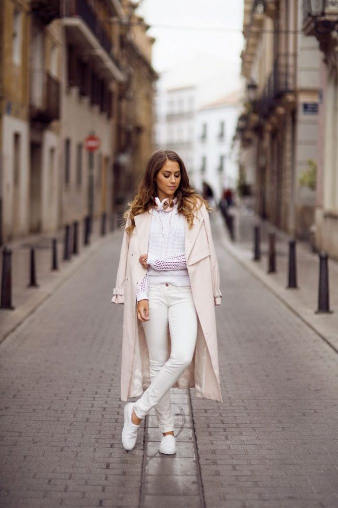 Winter-outfit-White-shirt-For-Women-675x1013 70+ Elegant Winter Outfit Ideas for Business Women in 2019