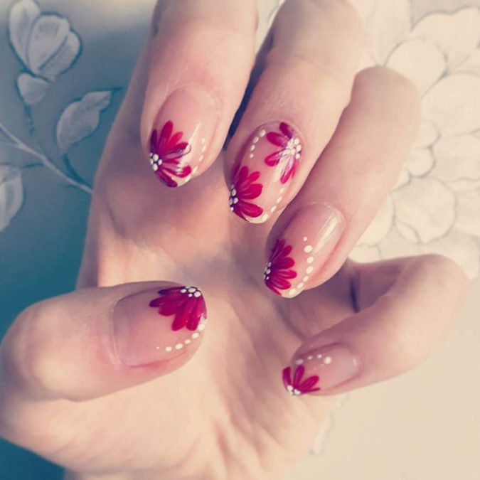 asian-floral-nail-design-675x675 60+ Most Fabulous Winter Nail Design Ideas This Year