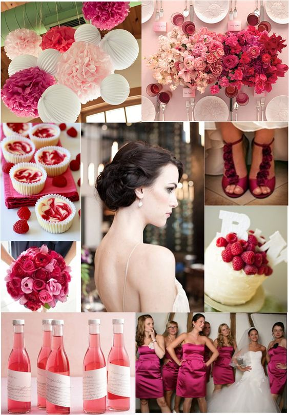 berry-pink. Trend Forecasting: Top 15 Expected Wedding Color Ideas for 2019