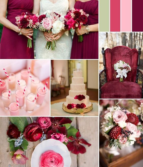 berry-pink Trend Forecasting: Top 15 Expected Wedding Color Ideas for 2019