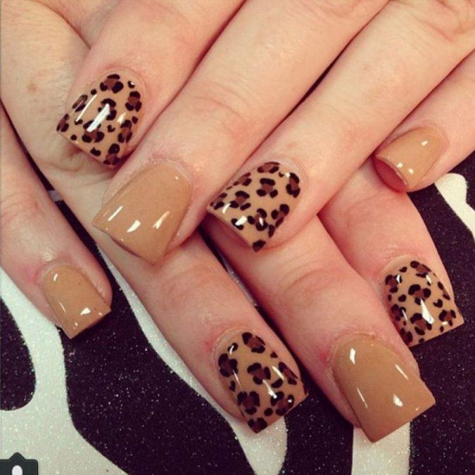 cheetah-nail-art-675x675 60+ Most Fabulous Winter Nail Design Ideas This Year