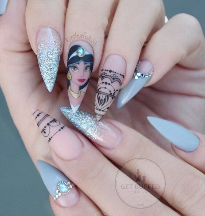 disney-nail-design-3-675x711 60+ Most Fabulous Winter Nail Design Ideas This Year