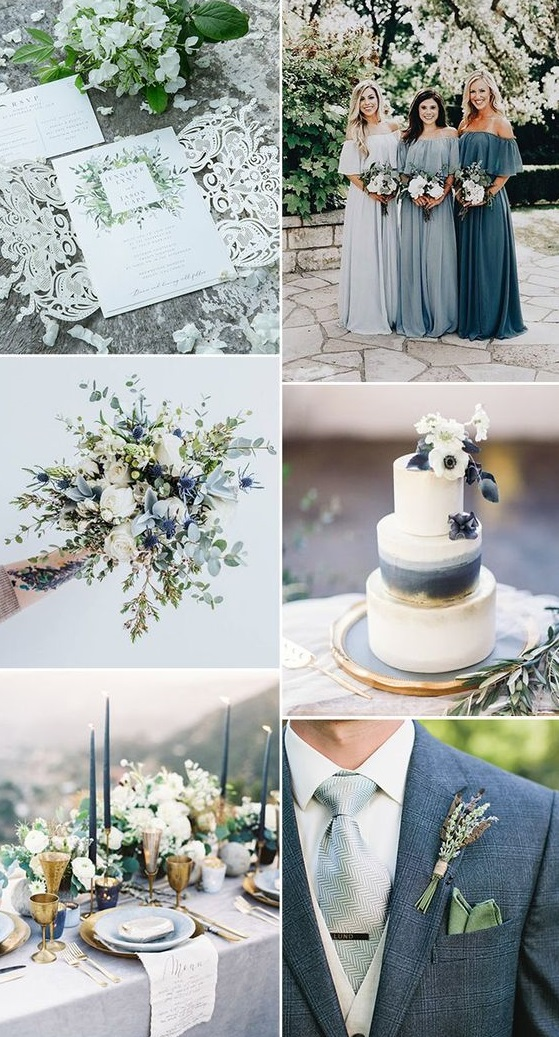 dusty-blue Trend Forecasting: Top 15 Expected Wedding Color Ideas for 2021