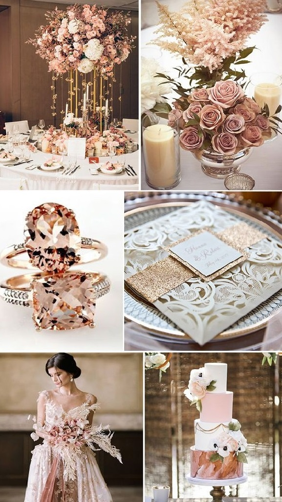 dusty-rose-4 Trend Forecasting: Top 15 Expected Wedding Color Ideas for 2021