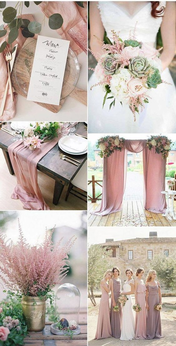 dusty-rose Trend Forecasting: Top 15 Expected Wedding Color Ideas for 2019