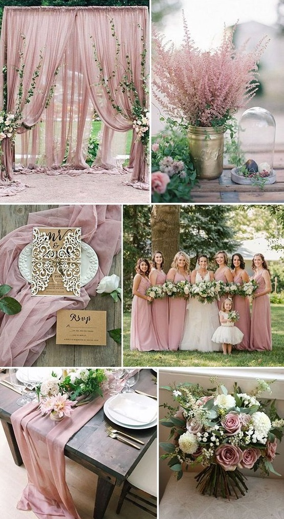 duty-rose.. Trend Forecasting: Top 15 Expected Wedding Color Ideas for 2019