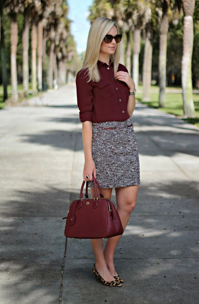 fall-business-casual-outfit-675x1032 70+ Elegant Winter Outfit Ideas for Business Women in 2019