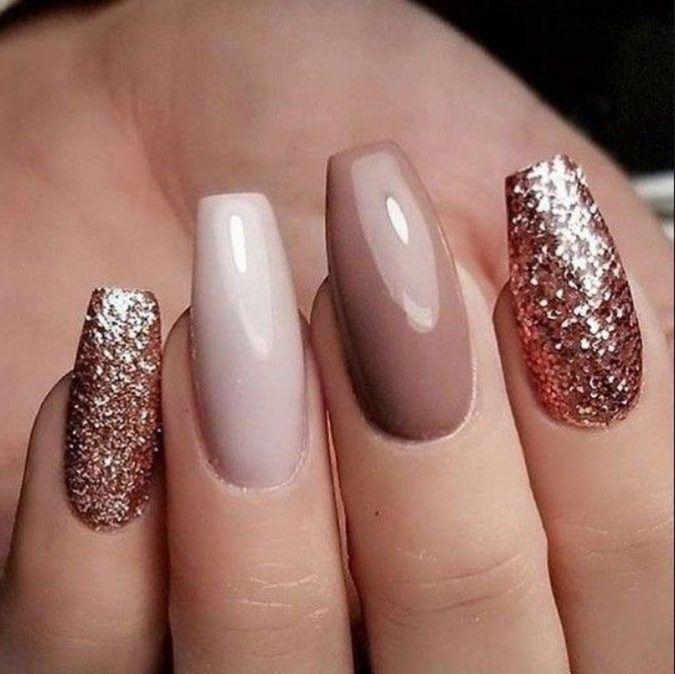 glitter-nail-art-design-675x674 60+ Most Fabulous Winter Nail Design Ideas This Year