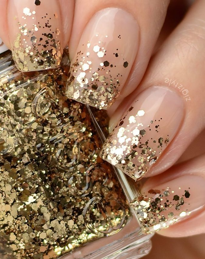 glitter-nail-design-675x852 60+ Most Fabulous Winter Nail Design Ideas This Year