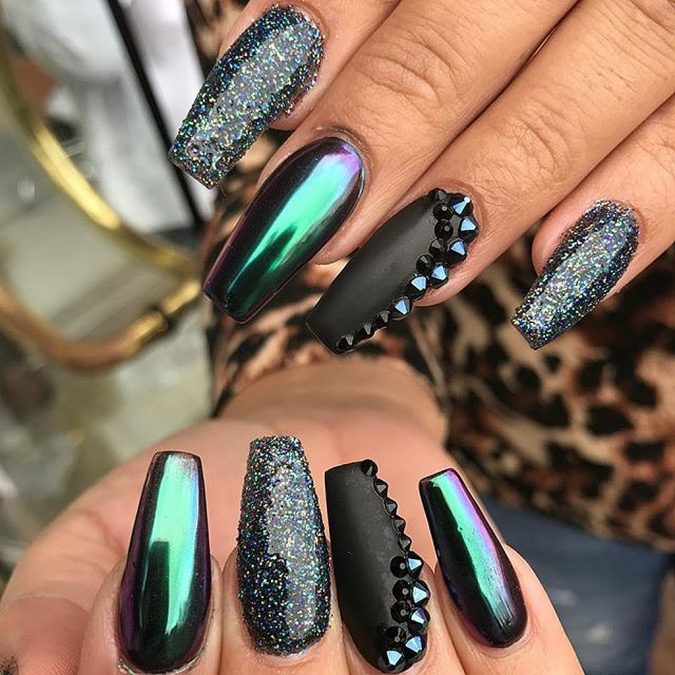 metallic-Chrome-Nails-675x675 60+ Most Fabulous Winter Nail Design Ideas This Year