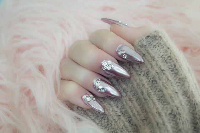 metallic-nail-art-675x449 60+ Most Fabulous Winter Nail Design Ideas This Year