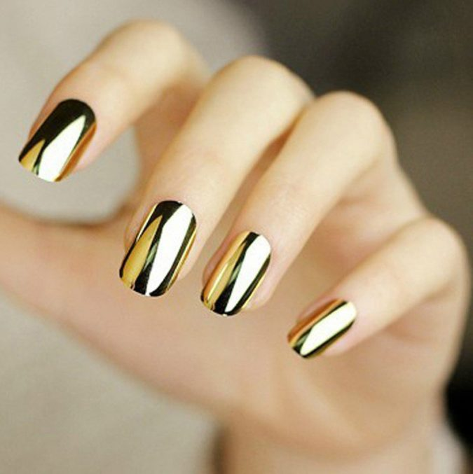 metallic-nail-design-675x677 60+ Most Fabulous Winter Nail Design Ideas This Year