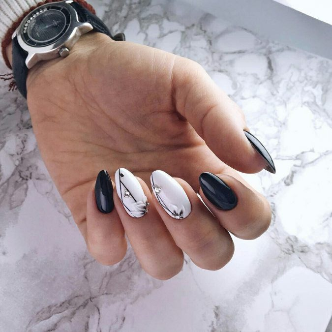 minimal-nail-design-675x675 60+ Most Fabulous Winter Nail Design Ideas This Year