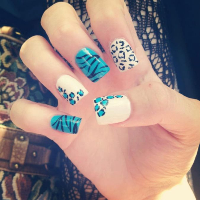 nail-art-design-animal-prints-3-675x675 +60 Hottest Nail Design Ideas for Your Graduation