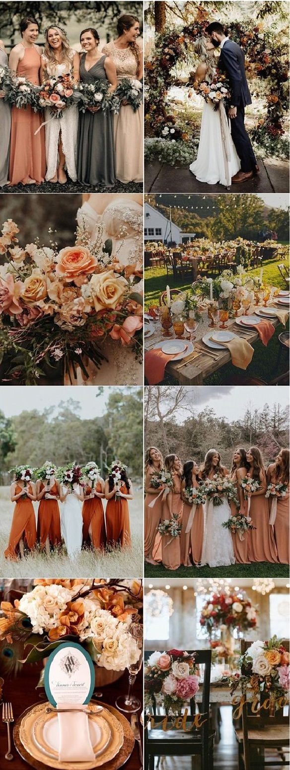 orange Trend Forecasting: Top 15 Expected Wedding Color Ideas for 2019