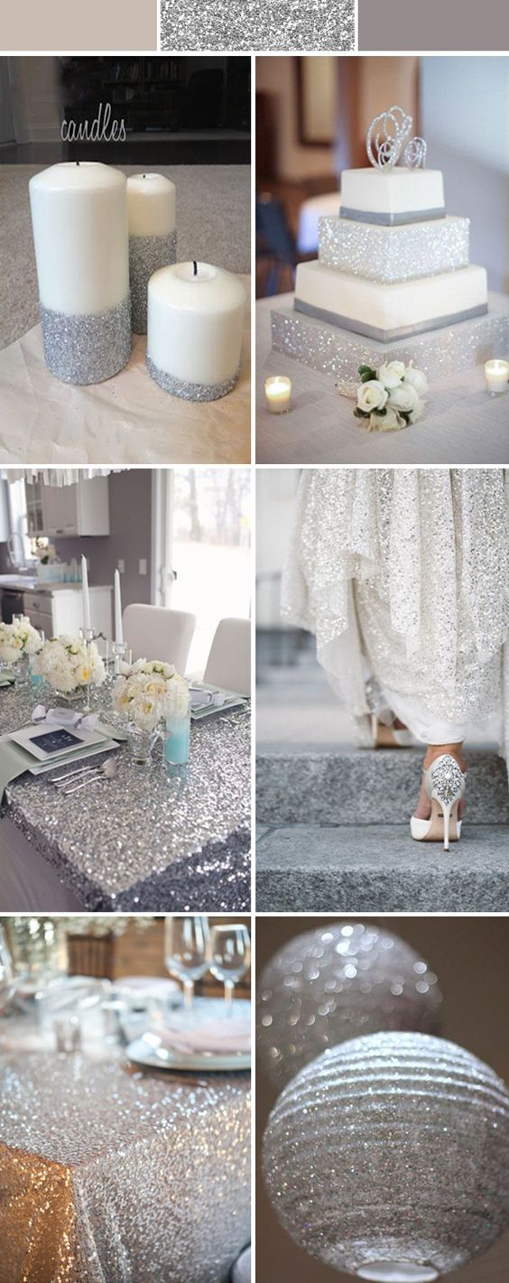 silver.-1 Trend Forecasting: Top 15 Expected Wedding Color Ideas for 2019