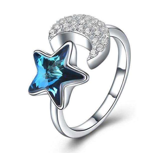 sterling-silver-ring-Haokan-2-675x616 60+ Stellar Sterling Silver Rings for Women