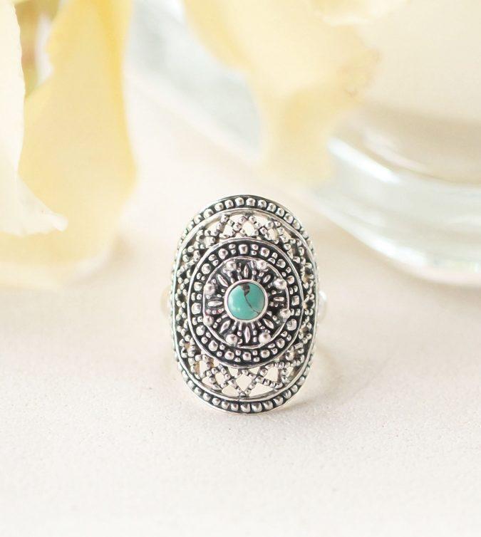 sterling-silver-ring-boho-675x754 60+ Stellar Sterling Silver Rings for Women